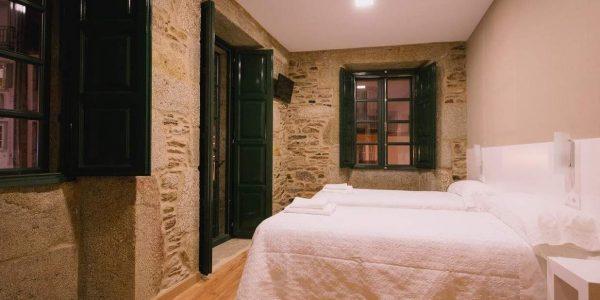 Habitación doble en Santiago de Compostela